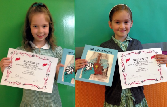 Partan Press Competition winners Amy Campbell and Rosie Hutton